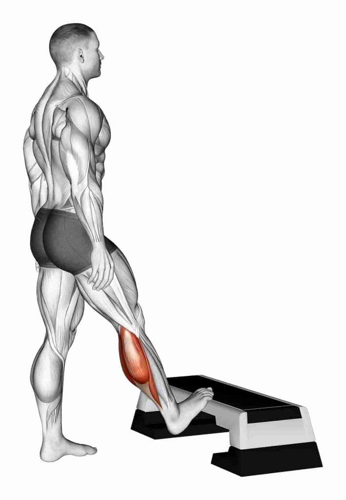 Calf Stretch on Step